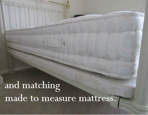 Made to measure mattresses and bespoke bed bases for odd size beds and vintage beds