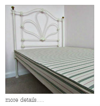 bed base with antique, vintage iron bed