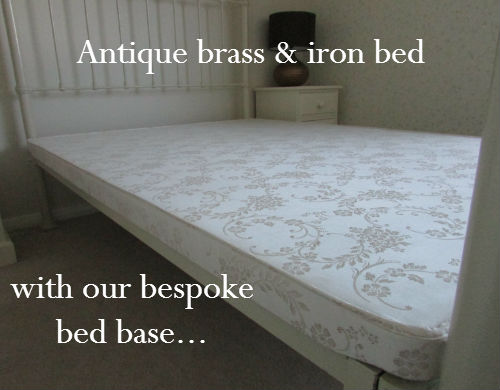 Handmade replacement bed base for victorian antique bed non standard size