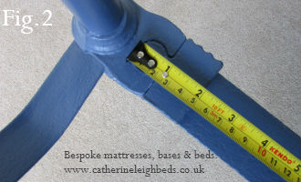 Guide to measuring your antique brass and iron bed for a new base or mattress