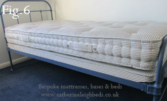 Measuring a victorian or edwardian iron bed for mattress.